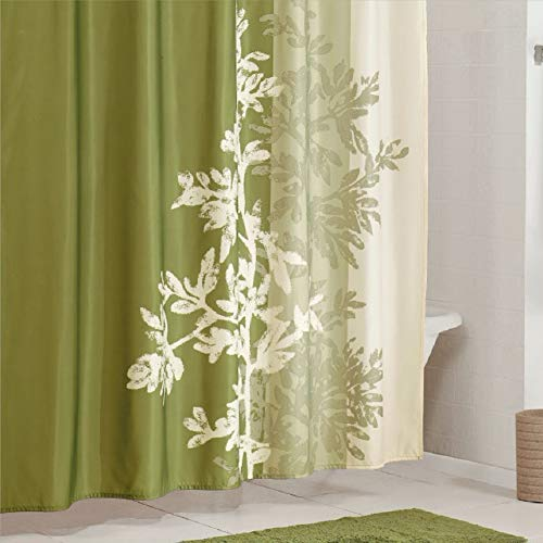 Curtain Lola - DS BATH Lola Shower Curtain,Flower Shower Curtain,Mildew Resistant Fabric Shower Curtains for Bathroom,Green Tree Bathroom Curtains,Print Waterproof Polyester Shower Curtain,72