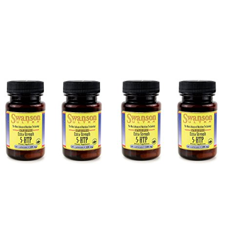 Swanson 5-Htp - Extra Strength 100 mg 60 Caps 4 Pack