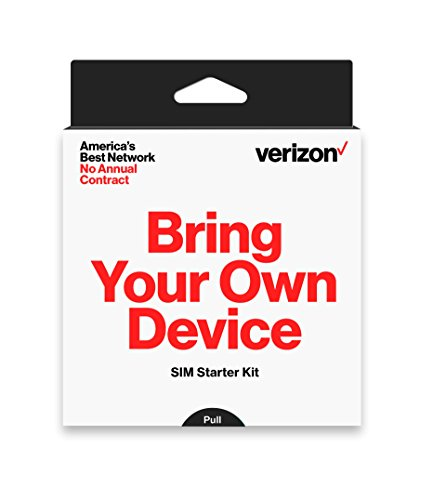 Verizon Prepaid SIM Card Kit – No Contract Service – (3-in-1 Sim: Standard, Micro, Nano)