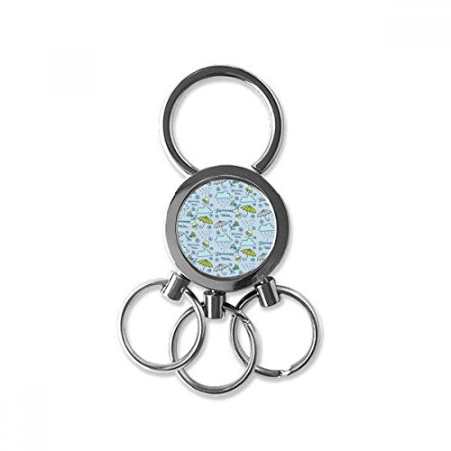 Umbrella Mushroom Cloud Rain Flower Stainless Steel Metal Key Chain Ring Car Keychain Keyring Clip Gift from DIYthinker