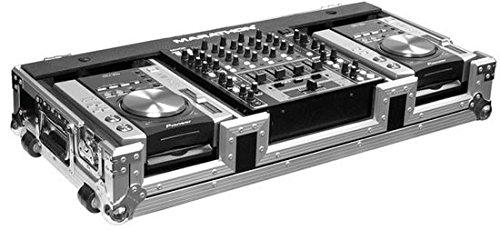 Marathon Case: Holds 2 X Small Format Cd Players: Gemini, Pioneer, Denon Players + 12-inch Mixer: Pioneer, Gemini, Denon, Allen & Heath Xone, American Audio W/ Wheels