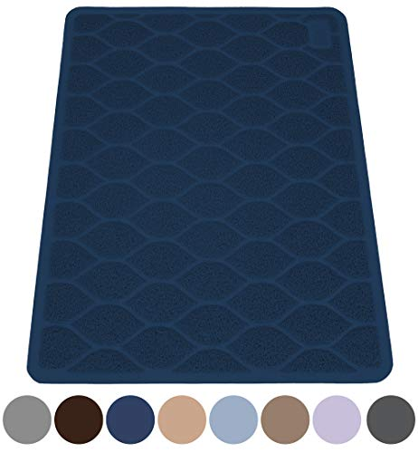 MIGHTY MONKEY Premium Cat Litter Trapping Mats, Phthalate Free, Best Scatter Control, Large and Jumbo XL, Mat Traps…