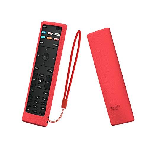 SIKAI Remote Case Compatible with Vizio XRT136 Smart TV Remote Skin-Friendly Shockproof Silicone Cover for Vizio XRT136 Remote Washable Anti-Lost with Remote Loop (Red)