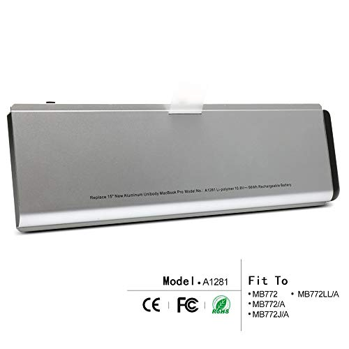 LQM New Laptop Battery For Apple MacBook Pro 15