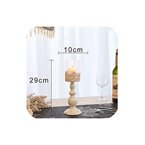 Candle Power Dinner Props Romantic Wedding Candlesticks Restoring Ancient Ways Furnishing Articles Table Artical Candle Holders,1 (Votive Definition)