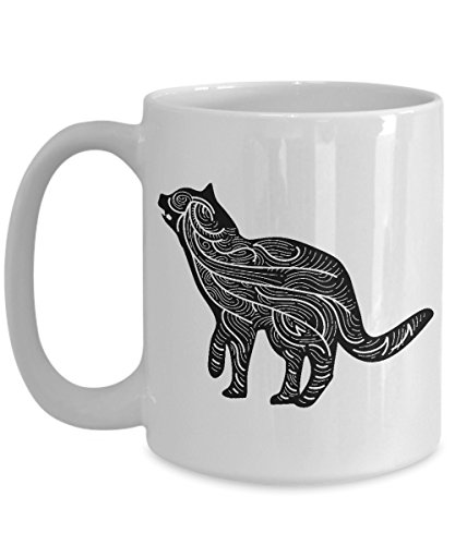 Puppeteering Coffee Mug, Best Funny Unique Shadow Puppet Tea Cup Perfect Gift Idea For Men Women - Cat Shadow Puppet halloween -