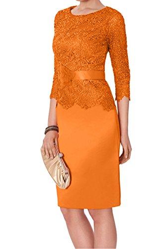 Etui Abschluss Abendkleider 2017 Damen Kurz Spitze mit Partykleider Rund Orange Ivydressing Wassermelone Arm Cocktailkleider Ua4wI