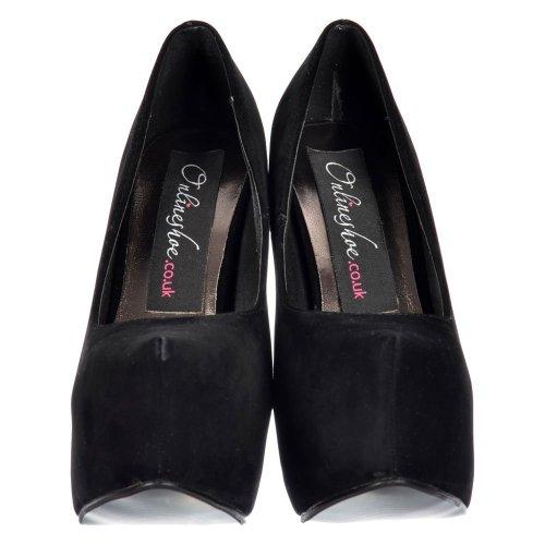 Las Gamuza Ocultas Tacones Plataforma Tacón Señoras Mujeres Aguja De Negra Zapatos Onlineshoe r4nrqxHv