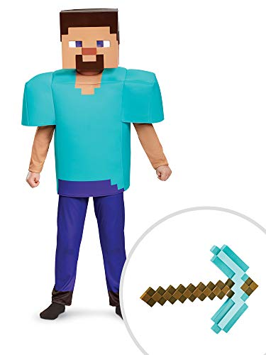 Minecraft Deluxe Steve Costume Kit Kids Small With