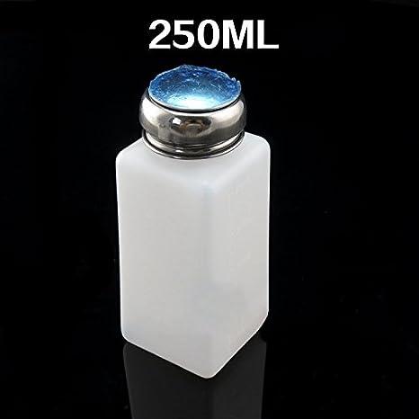 SATKIT Bote dispensador liquido Limpiador o Alcohol por presion 250ml: Amazon.es: Hogar