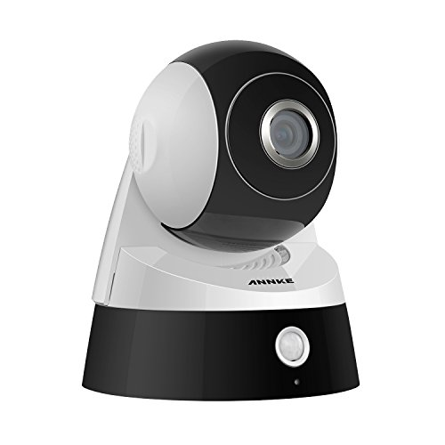 ANNKE HD 1080p Wireless Wi-Fi Camera with 2-Way Audio, 2.0MP Sensor, and Infrared Motion Detection Black