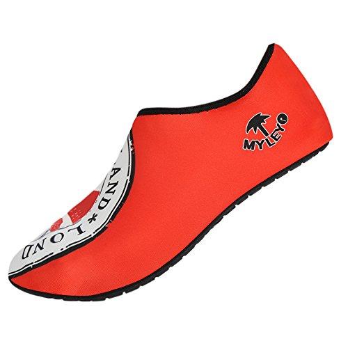 Sulle Moresave Unisex Spiaggia Mare Pelle Scarpe Rosso Acqua Surf Nuotare Di Slittamento ZZpn7zaxS