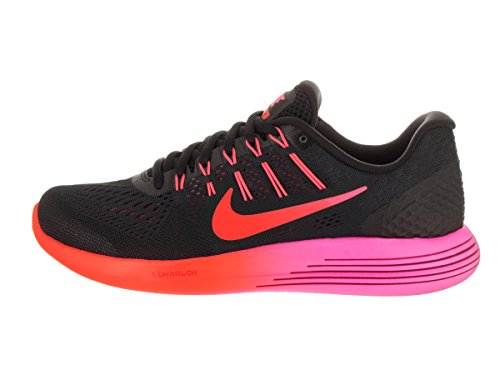 NIKE Womens Lunarglide 8 Running Shoe Black/Multi Color/Red fPGfgB