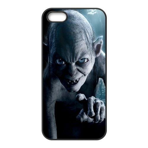 Cgi Gollum coque iPhone 4 4S cellulaire cas coque de téléphone cas téléphone cellulaire noir couvercle EEEXLKNBC24087