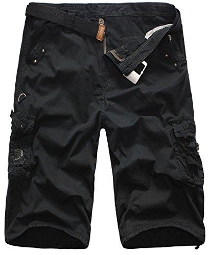 Microfiber Cargo Shorts Stone - 4