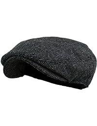 Men's Classic Herringbone Tweed Wool Blend Newsboy Ivy...