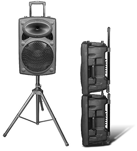 hisonic hs420 rechargeable portable pa system with dual wireless microphones with mp3 player. Black Bedroom Furniture Sets. Home Design Ideas