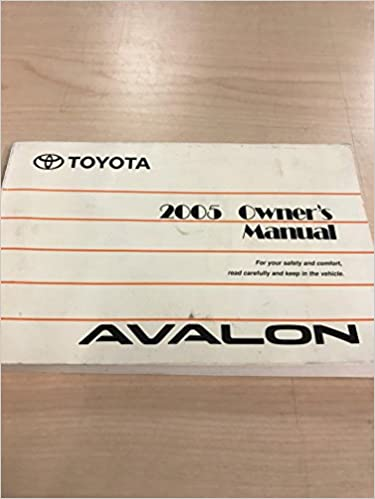 2006 toyota avalon owner manual