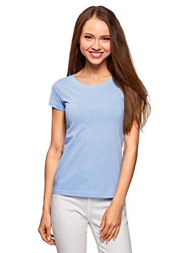 T Ultra Cotone 7001n In shirt Blu Donna Oodji Basic 7ZqxCf