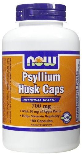 NOW Foods, PSYLLIUM HUSK 700mg + PECTIN 180 CAPS ( (Pectin 180 Caps)