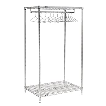 Amazon.com: nexel 2-shelf perchero con 12 perchas, acabado ...