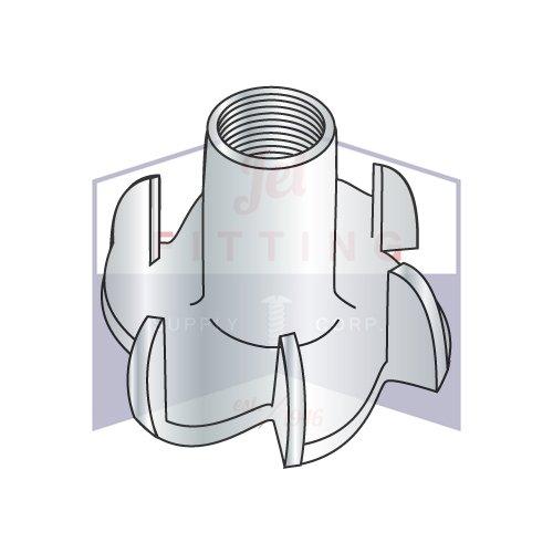 1/4-20X7/16 6 Prong Tee Nuts   Straight Barrel   Steel   Zinc (QUANTITY: 2000)