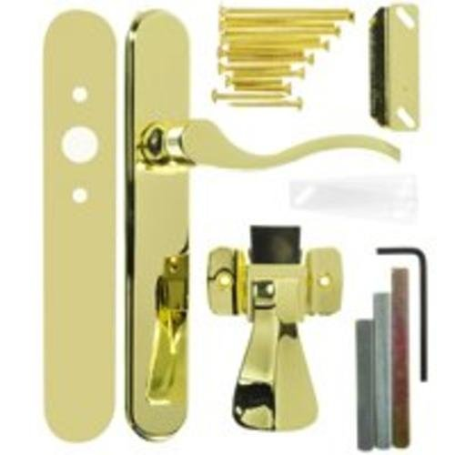 Wright Products Storm Door Latch, Polished Brass, 1 (Doors Storm Patio For Doors French)