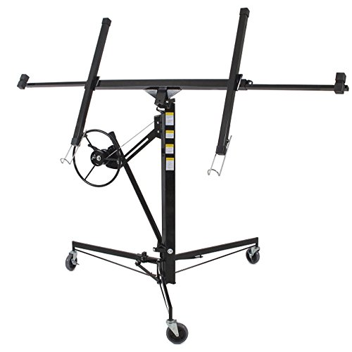 Drywall Lift 11' 15' Lift Panel Hoist Dry Wall Jack Lifter Construction -Black by Happybeamy (Image #6)