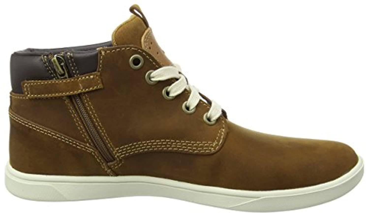 Timberland Groveton_Groveton Leather Chukka, Unisex Kids' Low-Top Sneakers, Brown (Brown), 1 UK (33 EU)