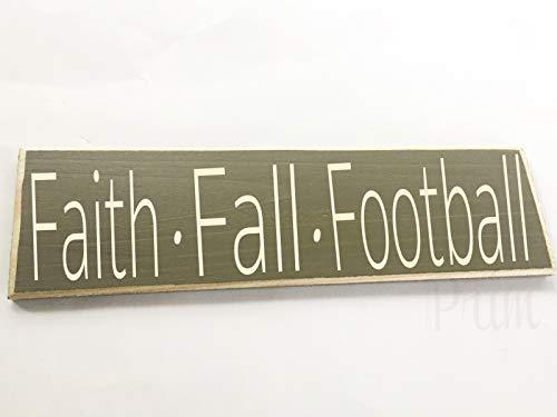 Faith Fall Football Custom Wood Sign Autumn Harvest Gather Give Thanks Thanksgiving Blessings