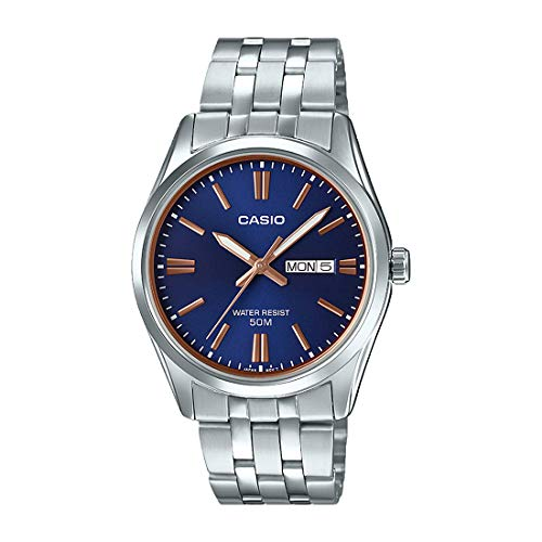 - Casio MTP1335D-1A2V Men's Stainless Steel Black Dial Analog Day Date Dress Watch