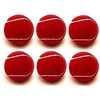 Pushp Enterprises Cricket Tennis Ball Heavy Weight Red Pack of 6