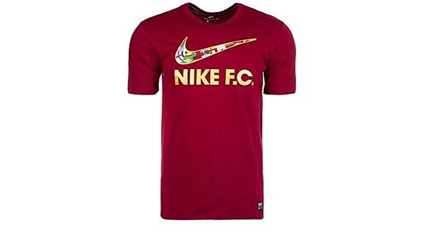 Nike F.C. para hombre Camiseta de fútbol de la bandera de Swoosh, XXL, Rojo(Team Red): Amazon.es: Deportes y aire libre