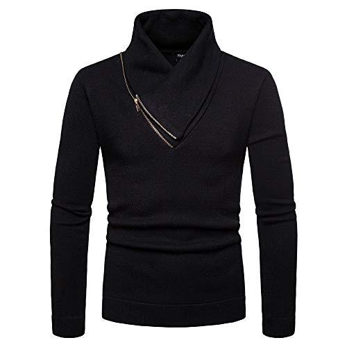 (Allywit High Collar Zipper Choker Long Sleeve Jersey Shirt Top Pullover Blouse)