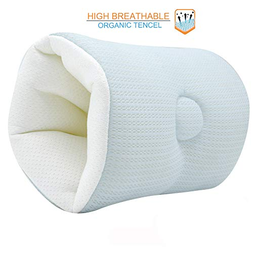 Baby Breastfeeding Pillow, Slip On Ultra Soft Breathable and Lithe Infant Bottle Feeding Head Support for Newborn, Portable and Washable Multi Use Arm Nursing Cushion for Travel, Blue