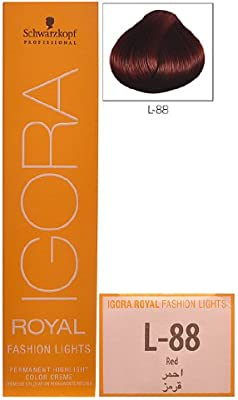 34c7ec2dcd Amazon.com: Schwarzkopf Professional Igora Royal Fashion Lights Hair Color,  L-88, Red, 2.1 Ounce: Beauty