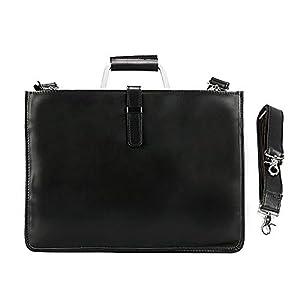 Egoelife Genuine Leather Briefcase Laptop Handbag Messenger Business Bags for Men