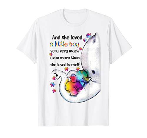 She Loved A Little Boy Very Much Autism Awareness Tshirt