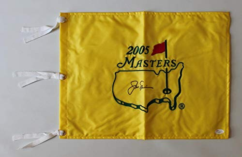 Jack Nicklaus signed autographed 2005 Masters flag! RARE! LOA! - JSA Certified - Autographed Golf Pin ()