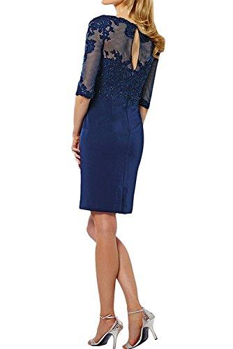 La Marie Royal Braut Blau Etuikleider Festlichkleider Abendkleider Knielang Damen Mini Traube Langarm Promkleider tffqrdw