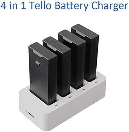4 in 1 DJI Tello Battery Charger Intelligent Flight Battery Charging for DJI Tello Drone Battery Charging Hub