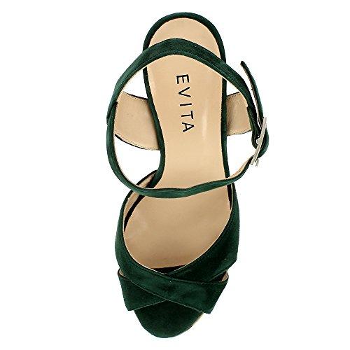 Vert Lana femme Olive Shoes Sandales Evita pour naTwOZxq1