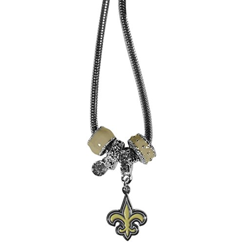 NFL New Orleans Saints Euro Bead Necklace, 18-Inch