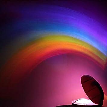 Hukitech - Lámpara LED, proyección del arcoíris, con temporizador ...
