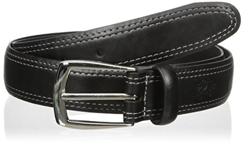 Men's Belt with Contrast Double Stitched Edge