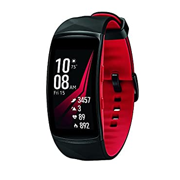 Samsung Gear Fit2 Pro Smart Fitness Band (Large), Diamond Red, SM-R365NZRAXAR