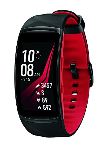 Diamond Samsung - Samsung Gear Fit2 Pro Smartwatch Fitness Band (Small), Diamond Red, SM-R365NZRNXAR - US Version with Warranty