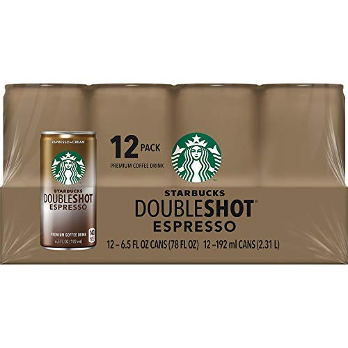 Starbucks Doubleshot Espresso Drink, 6.5 Oz. Cans (Pack of 24) by Starbucks