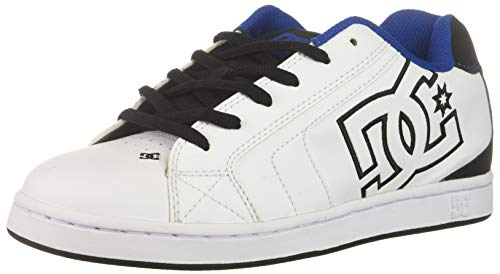 DC Men's Net Se-K Skate Shoe, White/Black/Blue, 6 D M US
