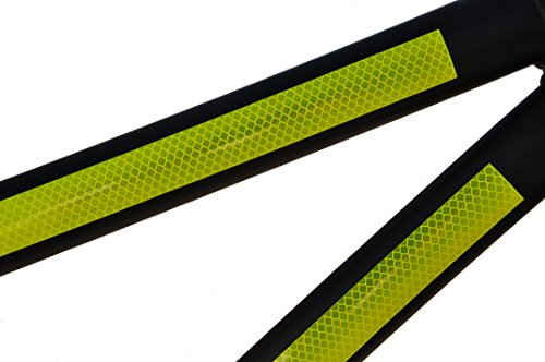 brite.bike Ultra Reflective 3M Bicycle Safety Stickers (Strips)   Engineered Diamond Grade Decals for Day & Night Visibility   Great for Kid & Commuter Bikes   Help Cars See You Fast